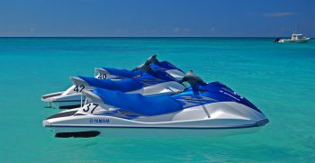 Jet Skis also called WaveRunner