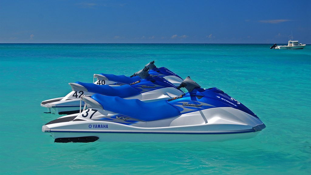 Jet Skis also called WaveRunner